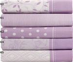 Anna Riska Σεντόνι King Size Mix & Match Lilac Print 40