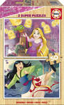 Disney Princess 2 Ξύλινα Παζλ 2x50pcs (17165) Educa