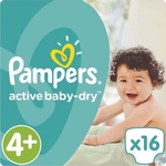 Pampers Active Baby Dry No4+ (9-16kg) 16 τμχ