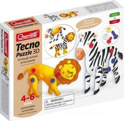 Quercetti Tecno Puzzle 3D: Lion and Zebra