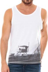 WAXX COAST TANK TOP WHITE
