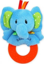 BabyMix Plush Rattle Elephant