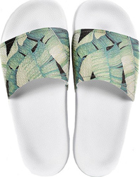 Slydes SLYDES Pool Sliders Palm - Jungle White (SL-CA1703)