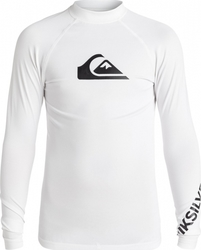 QUIKSILVER Boy's 8-16 All Time Long Sleeve Rash Tank White