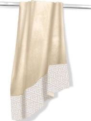 Guy Laroche Velour-Jacquard Ground Sand 75x175