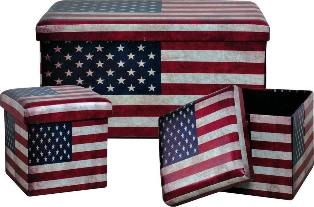 49430be457 Προσθήκη στα αγαπημένα menu Αμερικανική Σημαία Σκαμπό με Αποθηκευτικό Χώρο  460-3004