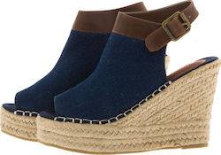 SUPERDRY D2 MIA ESPADRILLE WEDGE SHOES - SDSH0GF1002SO0000-I03 BLUE