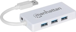 Manhattan 3-Port USB 3.0 Hub with Gigabit Ethernet Adapter