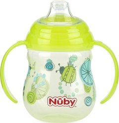 Nuby Ποτηράκι Twin Handle Soft Spout Green 270ml