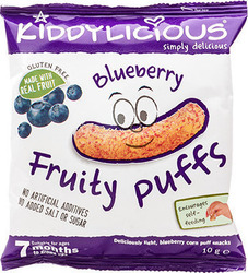 Kiddylicious Fruity Puffs Blueberry 10gr
