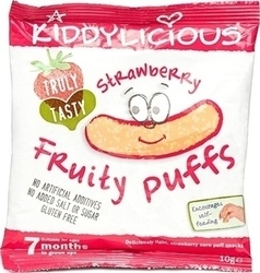 Kiddylicious Fruity Puffs Strawberry 10gr