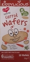 Kiddylicious Carrot Wafers 20gr