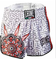 LEONE MANDALA THAI/KICK BOXING SHORTS - WHITE