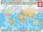 Political Worldmap 1500pcs (17117) Educa
