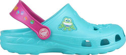 Coqui Clog Little Frog Turquoise/Magenta