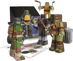 Jazwares Χελωνονιντζάκια: Team Ninja Turtles (Papercraft Figure Set)