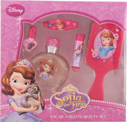 Disney Sofia First EDT Spray 25 ml & Lip Balm & Nail Polish & Hair Brush & Fashion Hair Accessory