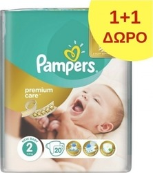 Pampers Premium Care No 2 (3-6Kg) 2*20τμχ