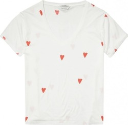 Maison scotch - Heart Printed T-Shirt 138532 (21) -
