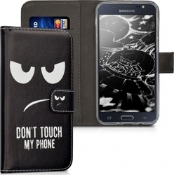 KW Don't Touch My Phone Wallet Μαύρο (Galaxy J5 2016)