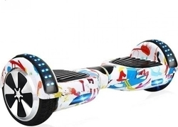 "Smart Balance Wheel 6.5"" with Bluetooth and Led Light White Graffiti"