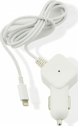 Muvit White Wired In Car Charger 2.4A Mfi Lightning MUDCC0105