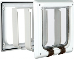 a0d1a7bcca10 ΠΟΡΤΑ ΓΑΤΑΣ TRIXIE 4 ΚΑΤΕΥΘΥΝΣΕΩΝ WAY CAT FLAP WITH TUNNEL - WHITE