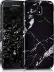 KW Back Cover Σιλικόνης Marble Μαύρο (Galaxy J5 2017)