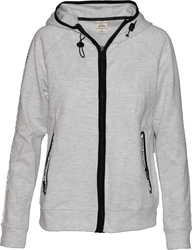 Body Action Tech Zip Hoodie 071723 White