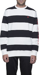 HUF Catalina Stripe Crew - Black - fl00018