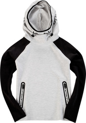 Body Action Cowl Neck Tech Hoodie 061722 White