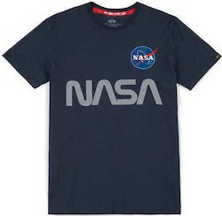 T-SHIRT ALPHA NASA REFLECTIVE REPLICA BLUE