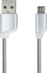 iSelf Spiral USB 2.0 to micro USB Cable Γκρι 1m (USBMETALMUS)