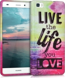 KW Live The Life Dark Pink Blue (Huawei P8 Lite)