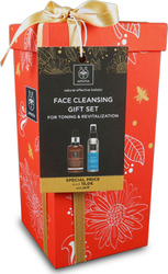Apivita Face Cleansing Gift Set for Toning & Revitalization