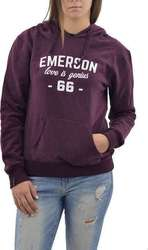 EMERSON WOMEN'S HOODED SWEAT (172.EW20.58-WINE )
