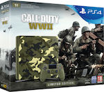 Sony PlayStation 4 Slim Green Camouflage Limited Edition 1TB & Call of Duty WWII