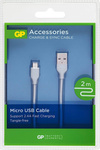 GP Batteries Regular USB 2.0 to micro USB Cable Γκρι 2m (160GPCB22C1)