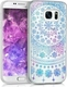 KW Arctic Snowflake Blue Dark Pink Transparent (Galaxy S7)