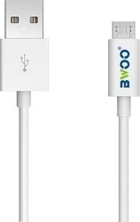 BWOO Regular USB 2.0 to micro USB Cable Λευκό 2m (j10374)