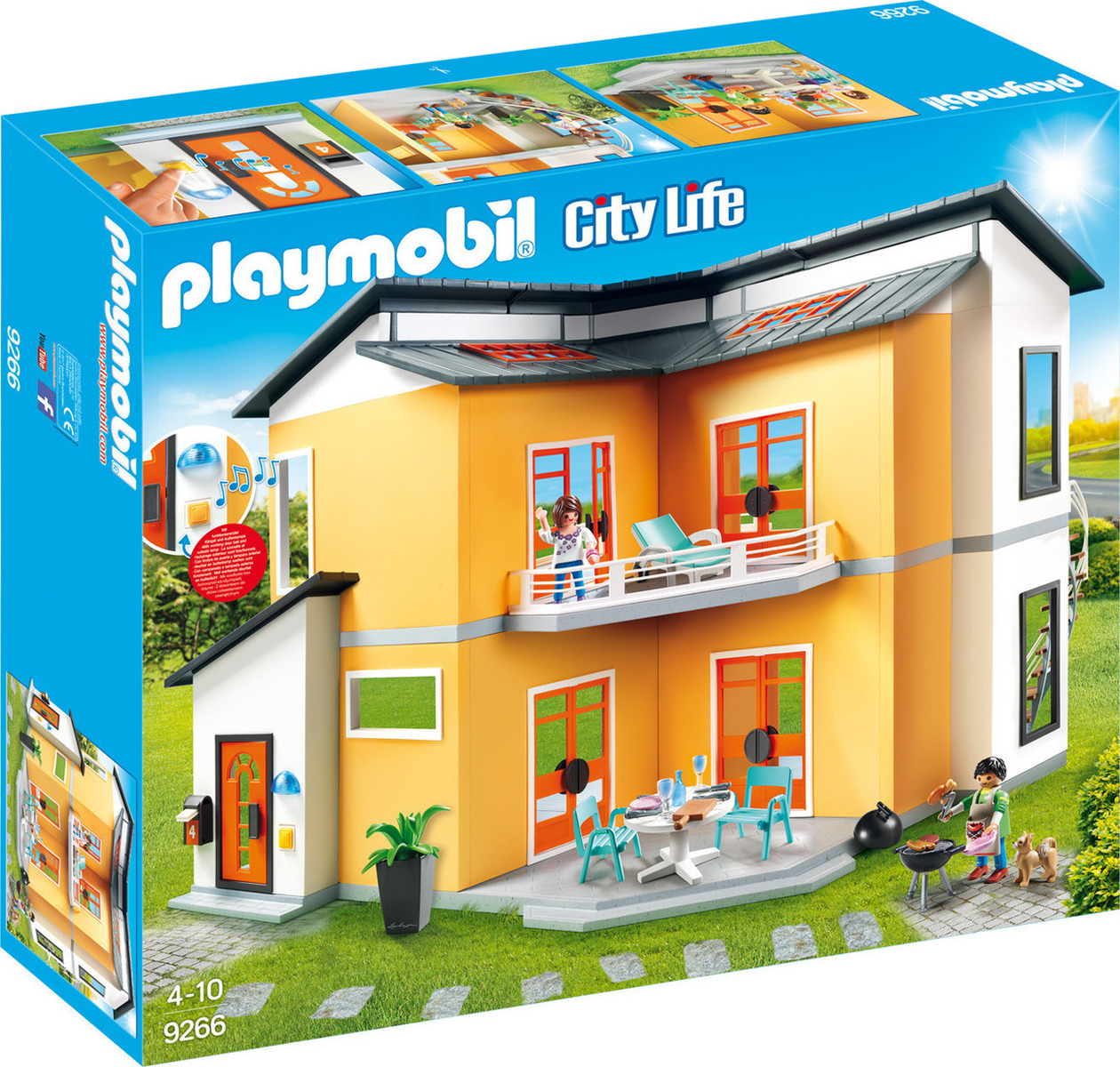 playmobil city life modern house. Black Bedroom Furniture Sets. Home Design Ideas