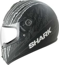 Shark S600 Pinlock Terror Matt Black/White