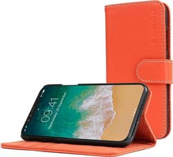 Snugg Leather Flip Wallet Πορτοκαλί (iPhone X/Xs)