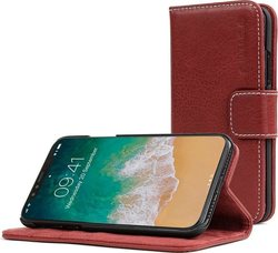 Snugg Leather Flip Wallet Cedar Red (iPhone X/Xs)