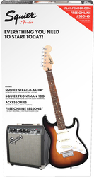 Squier Strat SS Pack for Beginners Brown Sunburst