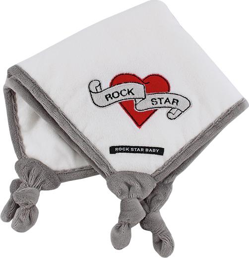 9e259f9d87a Προσθήκη στα αγαπημένα menu Rock Star Baby Πανάκι Παρηγοριάς - Heart & Wings
