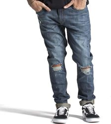 OBEY JUVEE DENIM II PANT 224170012-DESTROYED INDIGO Τζήν
