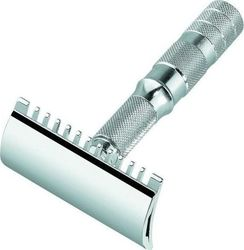 Merkur Razor Open Chrome Travel Double Edge Safety Razor 90 985 000