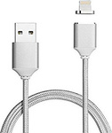 BWOO Magnetic USB to Lightning Cable Silver 1m (BW-U61)