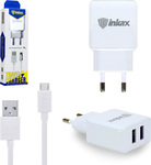 Inkax micro USB Cable & Wall Adapter Λευκό (CD-01)